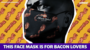 This face mask is for bacon lovers