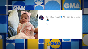 Kevin Hart shares first picture of baby girl Kaori Mai on Instagram