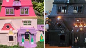 Halloween-Deko: Spuk-Häuser aus dem Secondhand-Laden