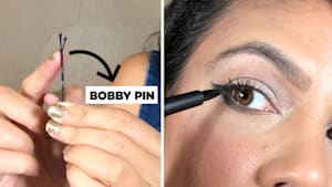 Brilliant eyeliner hack gives you the perfect cat eye using an essential hair styling tool