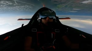 P.O.V. footage shows a pilot's perspective during his death-defying acrobatic stunts