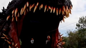 Thrilling zip line takes you into life-sized Godzilla replica in new Japanese amusement park