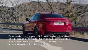 Die kompakte Sportlimousine Jaguar XE startet mit Mild-Hybrid Antriebs und neuem Infotainmentsystem
