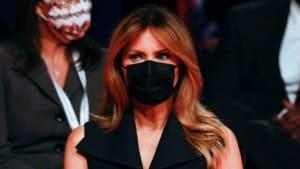TV-Duell: Melania Trump präsentiert sich mit Maske