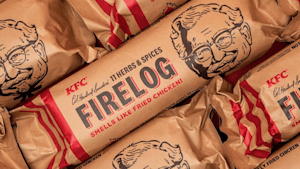 KFC sells fire log that smells like fried chicken when burning