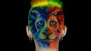 Insane hand-painted rainbow hairstyles have a life of their own