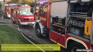 Einfamilienhaus in Ungarn Raub der Flammen