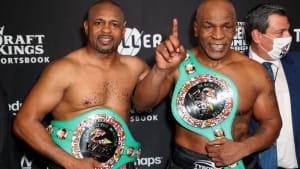 Unentschieden: Showkampf zwischen Tyson und Jones Jr.