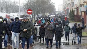 Proteste in Belarus - Schnee, Kälte und Zerstreuungstaktik