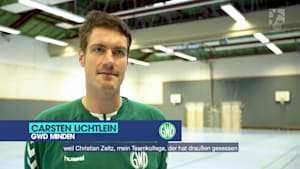Ex-Nationaltorwart Carsten Lichtlein in der Clubchallenge 2020/21 der Handball-Bundesliga