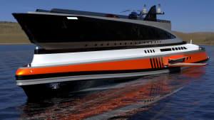 Neue Mega-Yacht: Und der Haifisch, der hat Zähne...
