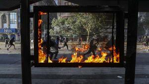 Straßenschlachten bei Protesten gegen Präsident Piñera