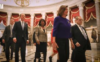 Democrats unveil two articles of impeachment against Trump