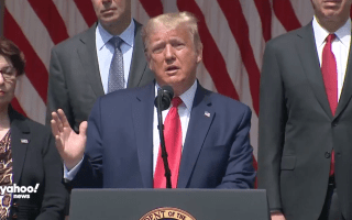 Trump Invokes George Floyd In Celebration Of Jobs Report