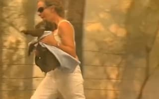 Woman risks her life to rescue scorched koala from Australian bushfire
