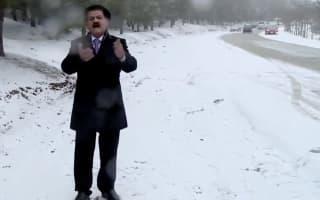 Kurdish weatherman suffers snowball attack