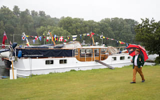 In Pictures: Rain fails to sink spirits as boat fans gather at festival