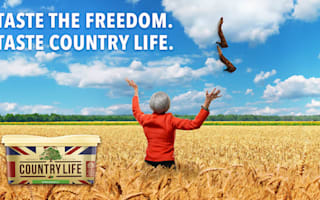 Butter brand bids farewell to outgoing PM Theresa May with field of wheat ad