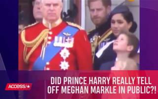 英ヘンリー王子に注意され、笑顔が消えてしまうメーガン妃【映像】