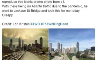 人のいなくなった街で撮られた写真が『ウォーキング・デッド』のポスターのようだと話題に