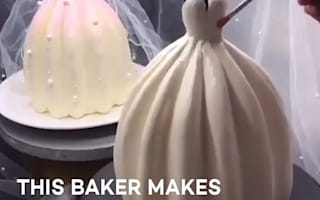 まるでバービー人形のドレスのようなケーキが話題に【映像】