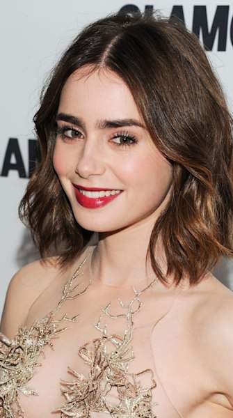 Lily Collins: Flawless lipstick look at 'Glamour' Awards in NYC
