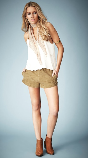 Want: Kate Moss for Topshop scalloped tank top