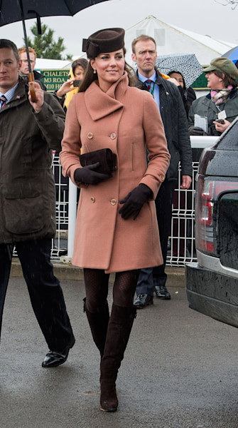 Kate and Pippa's Rainy Day Attire