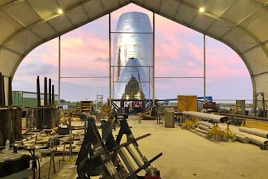 Get a glimpse of SpaceX's orbital Starship prototype under construction