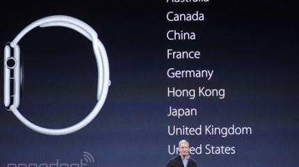 Apple Watch は4月24月発売、4万2800円〜。4月10日から予約と店頭展示