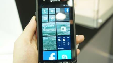 京セラがWindows Phone 8.1スマホをMWC出展。『Windows Phoneは高耐久と親和性が高い』
