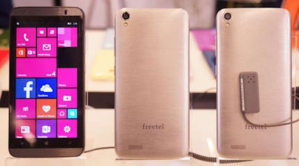 freetelの国内向けWindows Phone『Ninja』実機出展。Office 365とのシナジーを強調