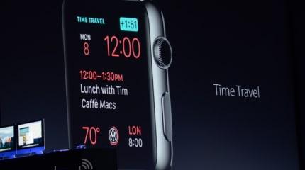 速報:Apple Watch用watchOS 2発表。新予定確認機能Time Travel、Wi-Fiへの直接接続も可能に