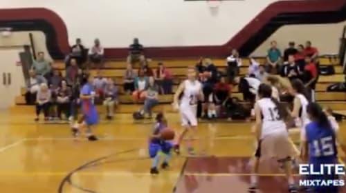 【動画】全米で話題 9歳の天才バスケ少女の技が凄すぎる! 高校代表メンバーにも選出