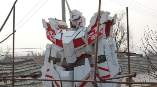 中国に6.6メートルの巨大ガンダムが出現!木造ガンダムがかっこよすぎると話題に