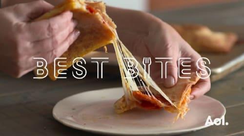 チーズたっぷり!ペパロニピザポケット【レシピ動画】