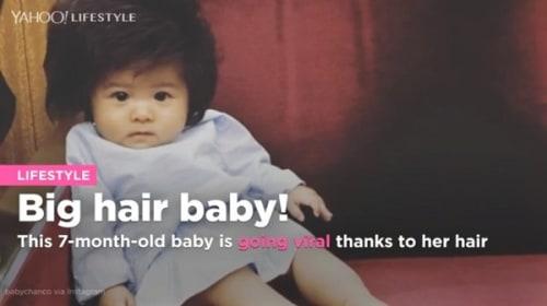 可愛過ぎる!フサフサな髪を持つ生後約半年の赤ちゃんがインスタグラムで話題に