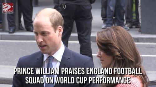 英ウィリアム王子、W杯で敗退を喫したイングランド代表にツイート「この代表チームはこの上ない誇り」