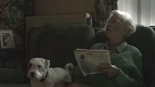 ワンコとお婆ちゃんのほのぼのCM→超絶シュールすぎる展開でヤバすぎる【動画】