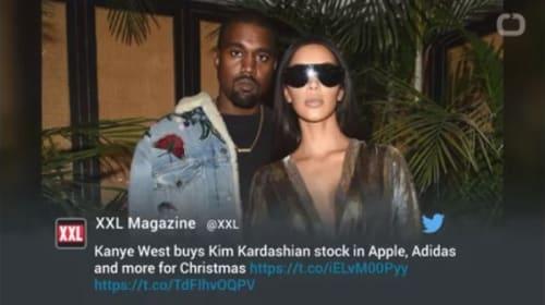 カニエ・ウエストが妻キム・カーダシアンへ贈ったセレブなクリスマスプレゼントとは?