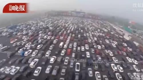 一度はまったら抜け出せない?中国の渋滞がヒドすぎる【動画】