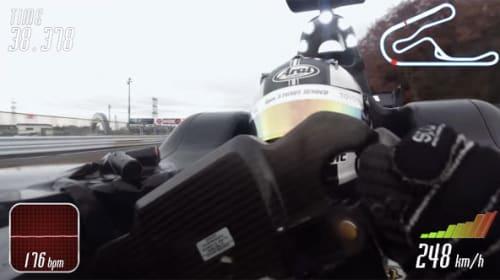 レーサー・小林可夢偉がレース中の心拍数をリアルタイム映像で公開 想像以上に過酷すぎる!【動画】