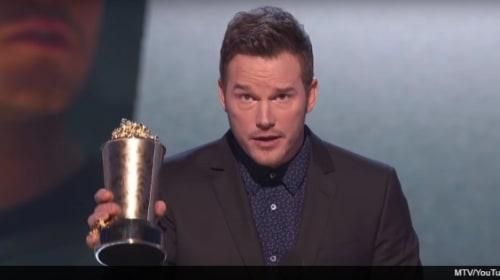 クリス・プラット、MTVアワードの受賞スピーチで下品なネタを投下
