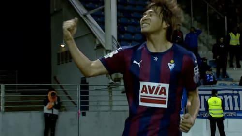 エイバル・乾貴士、スペイン移籍後待望の初ゴール!海外メディアも「日本人選手の中でもベスト・パフォーマンス」と絶賛【動画】