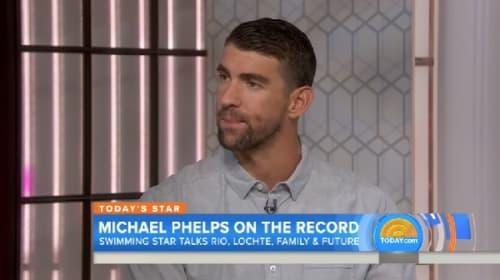 マイケル・フェルプスがTV番組で「強盗虚偽」のロクテへエールを贈る