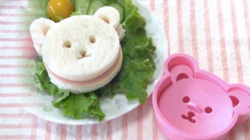 食卓に可愛いクマがいるだけで癒されまくり!クマさんの「食パン用抜き型セット」が新発売