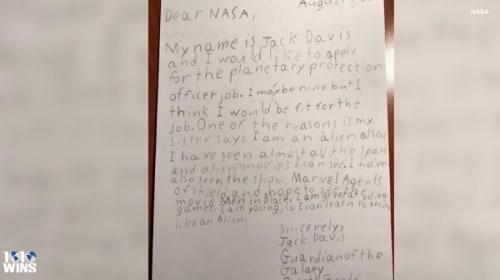 NASA「惑星保護官」の求人に9歳の少年が応募し話題に