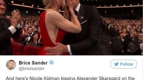ニコール・キッドマンが夫キース・アーバンの前でドラマ共演者の唇にキス!?