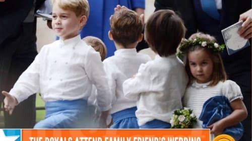 結婚式でおどけて行進するジョージ王子がかわい過ぎると話題に