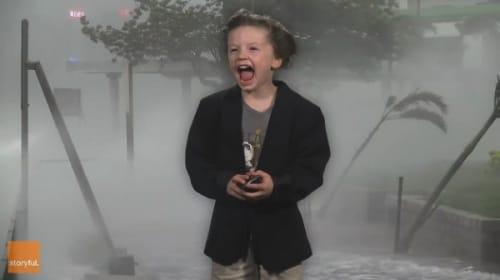 天気予報に挑戦する幼稚園生が「可愛過ぎる」と話題に【映像】